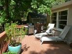 Lounge chairs and Weber gas BBQ for your use