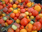 Get your tomatoes at the fantastic Farmers Market just 5 minute walk from the suite.
