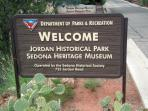 Jordan Historic Park and Sedona Heritage Museum within 3/4 of a mile