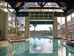 Indoor/Outdoor Heated Pool with Hot Tub, Workout Facility and Sauna