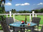 Here's the view from your private lanai. It's a perfect spot to enjoy a meal.