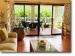 The lower level living room...