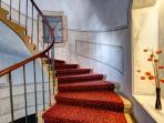 Restored staircase to apartments.