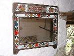 Antique mirror in cottage