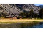 Lodge on Clark Fork river