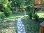 Cabin - Stone Path to Gazebo and Pond