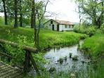 Creek running next to the Folk Cottage