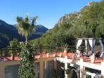 terrace under infinity pool