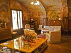Sitting room with Frescoes in Arabic style