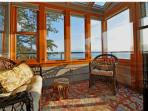 This charming sunroom is just off the master bedroom.