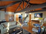 This cozy upper loft is a great spot for fooseball and just hanging out