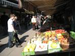 Naschmarkt - countless grocery stores - just across the street