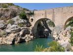 The Pont du Diable near St Guillhem - a popular swimming spot (about 20 mins away)