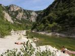 River bathing is wonderful in the beautiful Gorges dHerault near Ganges (one hour)
