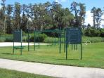 Outdoor gym area - back of main lake