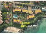 Aerial view of the resort, with our #415 marked.