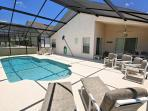 Gorgeous Sunny Deck and Pool with Shaded Lanai for Al Fresco Dining in Style