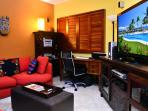 office and entertainment room