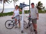 Biking along the Costa Maya