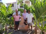Caretakers Rosa and Cecilio, co-owners Tom and Chris with the Dove!