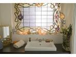 Bathroom - Glass pane/Jugendstil