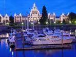 Beautiful Victoria is a scenic 45 minute drive south.