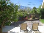 Spectacular Backyard view of San Jacinto Mountain range - private, walled backyard