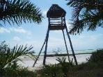 Flamingo Observation Tower in El Cuyo