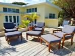 Our roof deck has comfy seating to enjoy the sun or watch the stars.