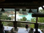 one of our favourite lakeside restaurants- El Mirador- excellent views and good food and service