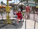 Rides for kids at near by Race Track Park