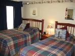 Bedroom 3 / full and twin beds / TV and DVD player