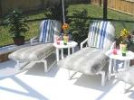 Relax In The Sun  on the secluded deck