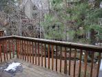 Enjoy the sounds of the creek from the deck