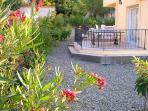 The villa has a lovely mature garden with 100M of terracing