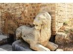 stone lion carving at Othello's Gate
