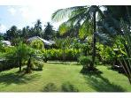 Large landscaped, enclosed gardens