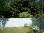 Privacy Fenced in back yard