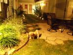 Relax and enjoy the evening breeze in back yard with your pet