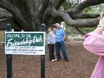 Visit the 500 year old Live Oak Friendship Tree,