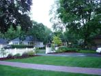The huge front garden, the house is situated on a double size city lot