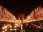 champs-elysees night