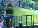 We have our own private small garden in multiple levels.