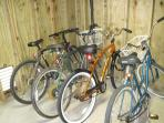 Bike rentals for nominal charge (7 bikes in various sizes)