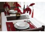 Lower Apartment: Dining table with quality chinawear