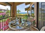 The double lanai is super for grilling and dining with balcony height table and chairs.