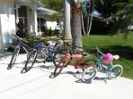FREE USE BICYCYLES, BEACH EQUIPMENT, ICE BOXES FOR ALL THE FAMILY