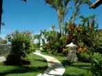 Villa Bossi is surrounded by a lush tropical garden
