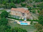 Aerial image of Tuscan Villa le Capanne