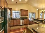 Kitchen. All top of the line stainless appliances. Fully stocked with plates, bowls, etc.